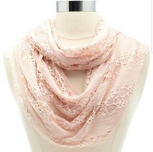 Lace Infinity Scarves & Girls Fuzzy Strech Scarf